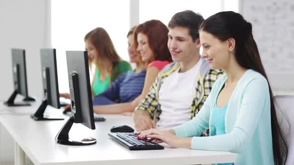 Thumbnail for Smiling Students Working With Computers At School 1