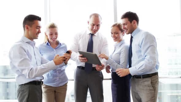 Thumbnail for Business People With Tablet Pc And Smartphones 4