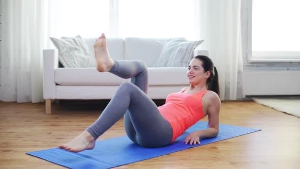 Thumbnail for Smiling Teenage Girl Doing Exercise For Legs