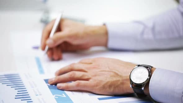 Thumbnail for Businessman Hands With Calculator And Papers 5