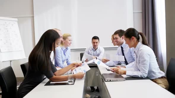 Thumbnail for Smiling Business People Meeting In Office 1