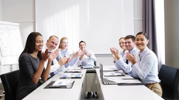 Thumbnail for Smiling Business People Meeting In Office 15