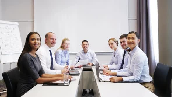 Thumbnail for Smiling Business People Meeting In Office 16