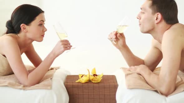 Thumbnail for Happy Couple Relaxing In Spa Salon 8
