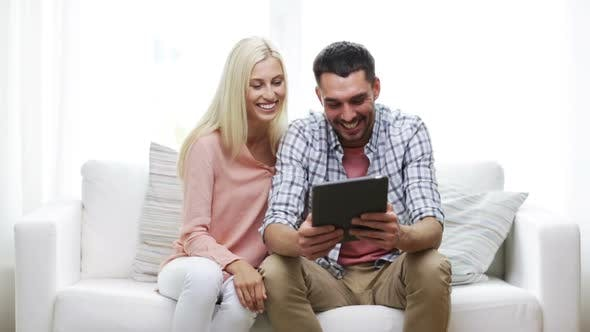 Thumbnail for Happy Couple With Tablet Pc At Home 6