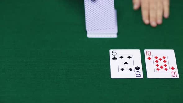 Thumbnail for Holdem Poker Dealer With Playing Cards 20