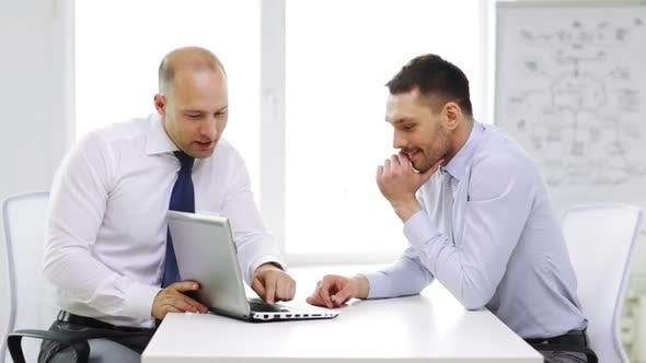Thumbnail for Two Smiling Businessmen With Laptop In Office 3