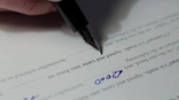 Thumbnail for a Man Signs Agreement