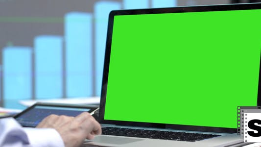 Thumbnail for Business Green Screen Laptop 2