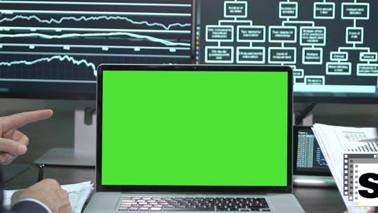 Thumbnail for Business Green Screen Laptop 4