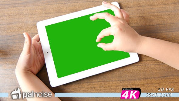 Thumbnail for Tablet Touch By Children Zoom In Out Picture