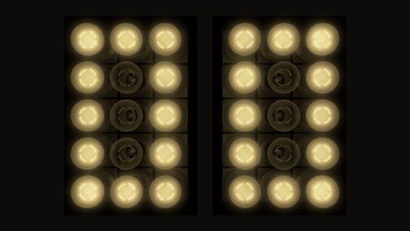 Light Bulbs Clock Warm