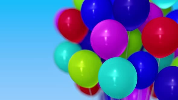 Thumbnail for Many Balloons Against Blue Sky