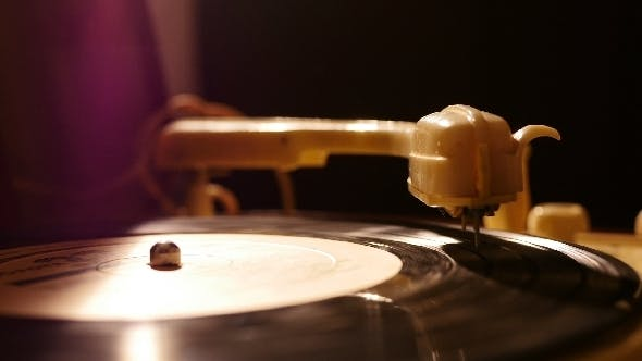 Cover Image for Old Vinyl Record Violett Soft