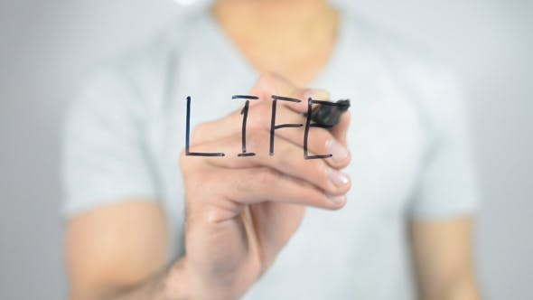 Thumbnail for Life, Writing on Transparent Screen