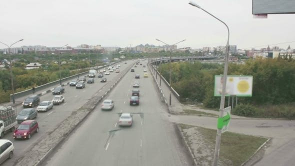 Thumbnail for City Traffic View Of The Bridge