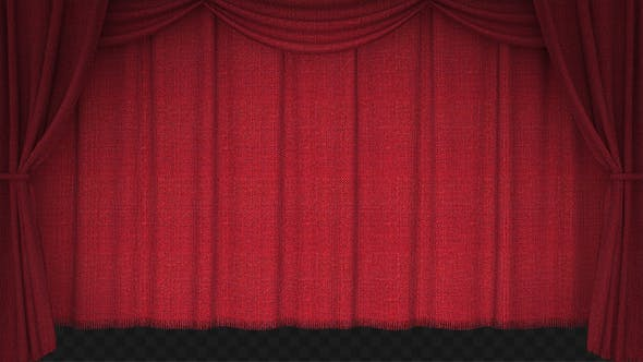 Thumbnail for Realistic Red Vertical Curtain