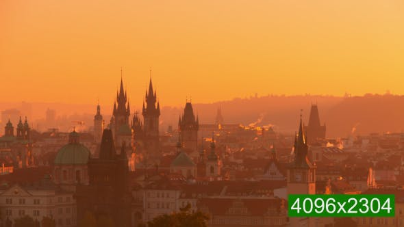 Thumbnail for Golden Morning over Roofs of Prague