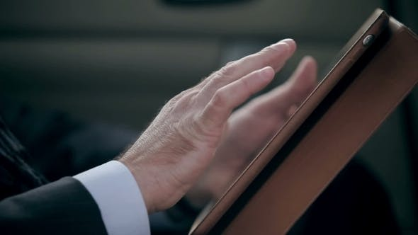 Thumbnail for Male Hands Using Digital Tablet