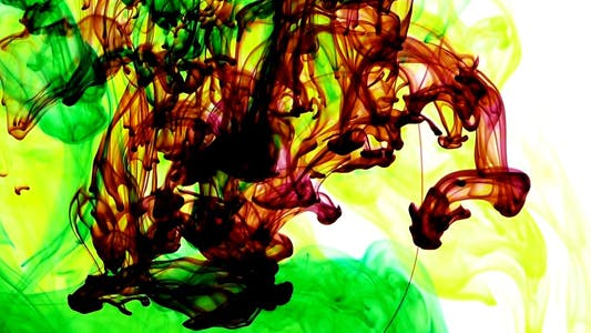 Thumbnail for Abstract Ink Paint Art Blend Colorful Splash 3