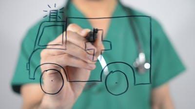 Ambulance Concept Illustration