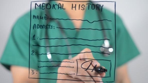 Thumbnail for Medical History form, Illustration