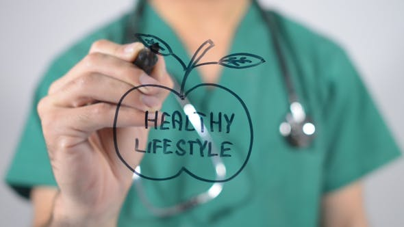Healthy Lifestyle Illustration Concept