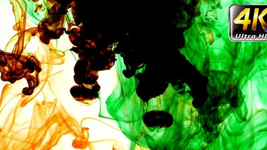 Thumbnail for Abstract Ink Paint Art Blend Colorful Splash 2