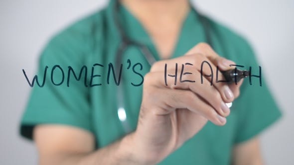 Women's Health, Writing on Transparent Screen