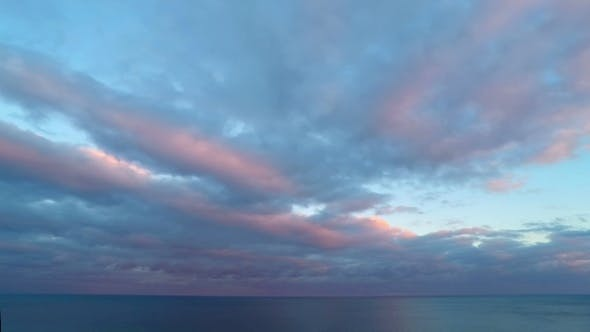 Thumbnail for Cloudy Sunset Sky over the Sea