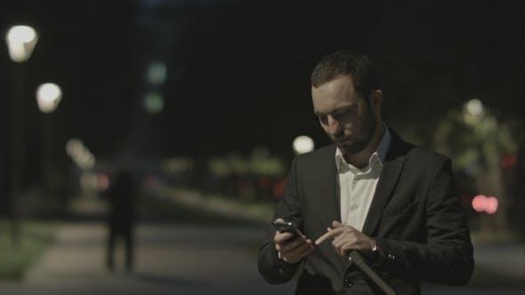Portrait Of Handsome Adult Business Man