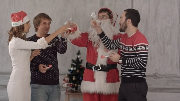 Thumbnail for Friends Celebrate New Year And Christmas.