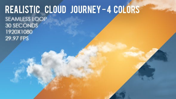 Thumbnail for Realistic Cloud Journey - 4 Colors