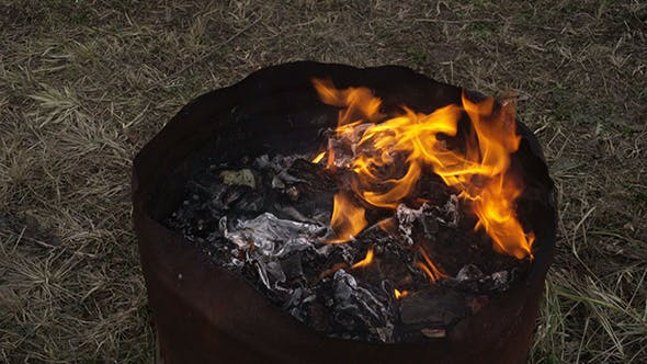 Thumbnail for Garbage Fire in Steel Barrel