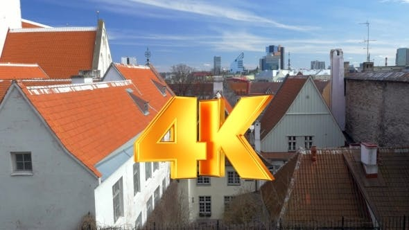 Thumbnail for Houses Of Tallinn With Red And Orange Roofs