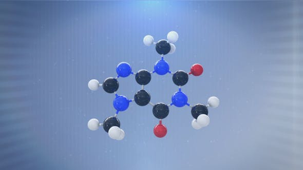 Thumbnail for 3D Molecule (Caffeine)