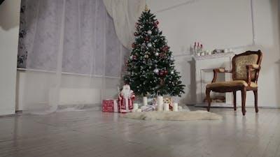 Christmas Living Room.