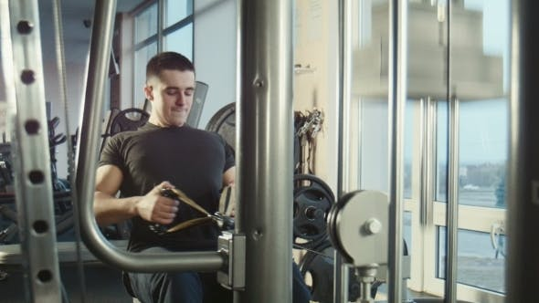 Thumbnail for The Guy Is Engaged In a Gym On The Exercise
