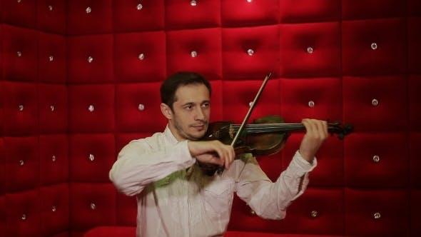 Cover Image for Elegant Emotional Man Violinist Fiddler Playing