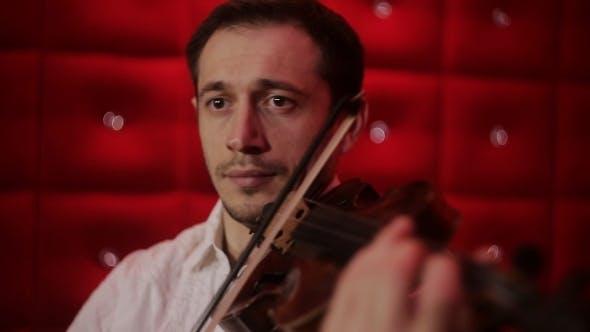 Thumbnail for Elegant Emotional Man Violinist Fiddler Playing