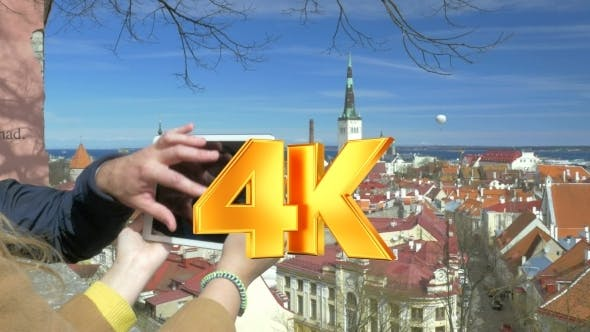 Thumbnail for People Taking Top View Photos Of Historic City
