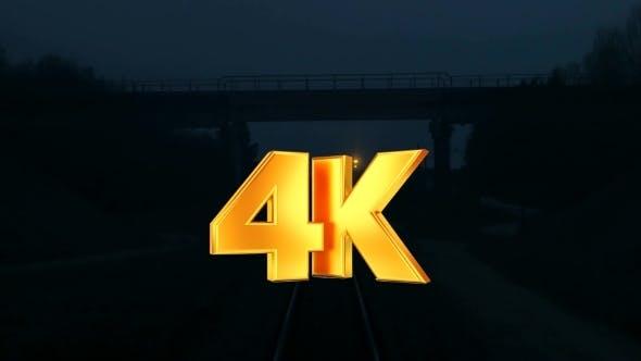 Thumbnail for Train Moving Along Tracks
