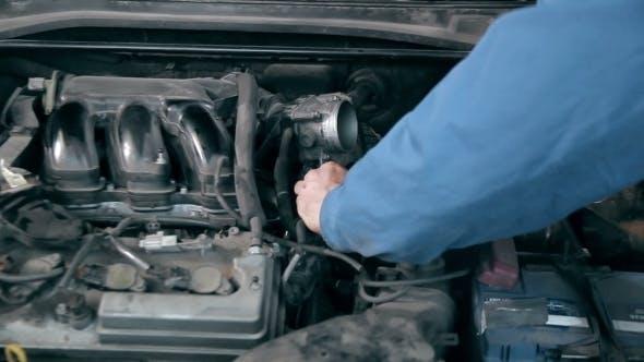 Thumbnail for Mechanic Repairing Car