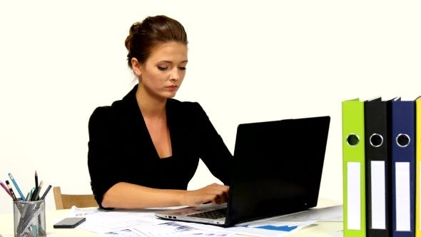 Thumbnail for Businesswoman In Office Using Laptop