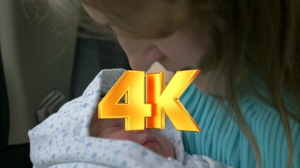 Thumbnail for New Born Baby Sleeping In Mothers Hands