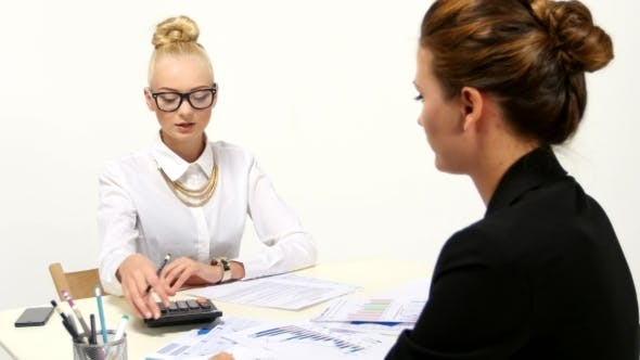 Thumbnail for Businesswomen Are Working And Discuss a Problem