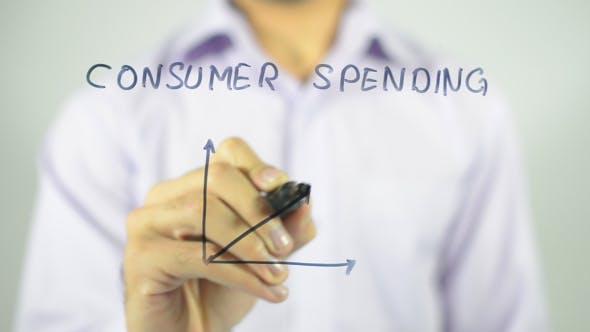 Thumbnail for Consumer Spending, Graph Concept Illustration