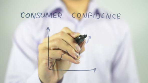 Thumbnail for Consumer Confidence, Graph Concept Illustration