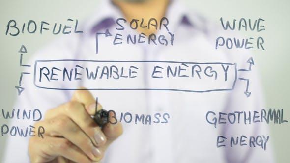 Thumbnail for Renewable Energies, Clip Art Illustration