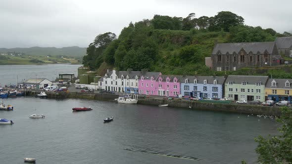 Thumbnail for Portree harbor on a cloudy day, Isle of Skye